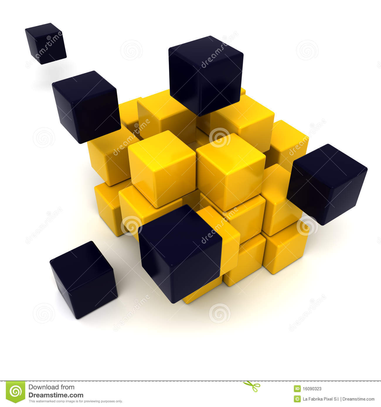 yellow and black cubic background stock illustration. Black Bedroom Furniture Sets. Home Design Ideas