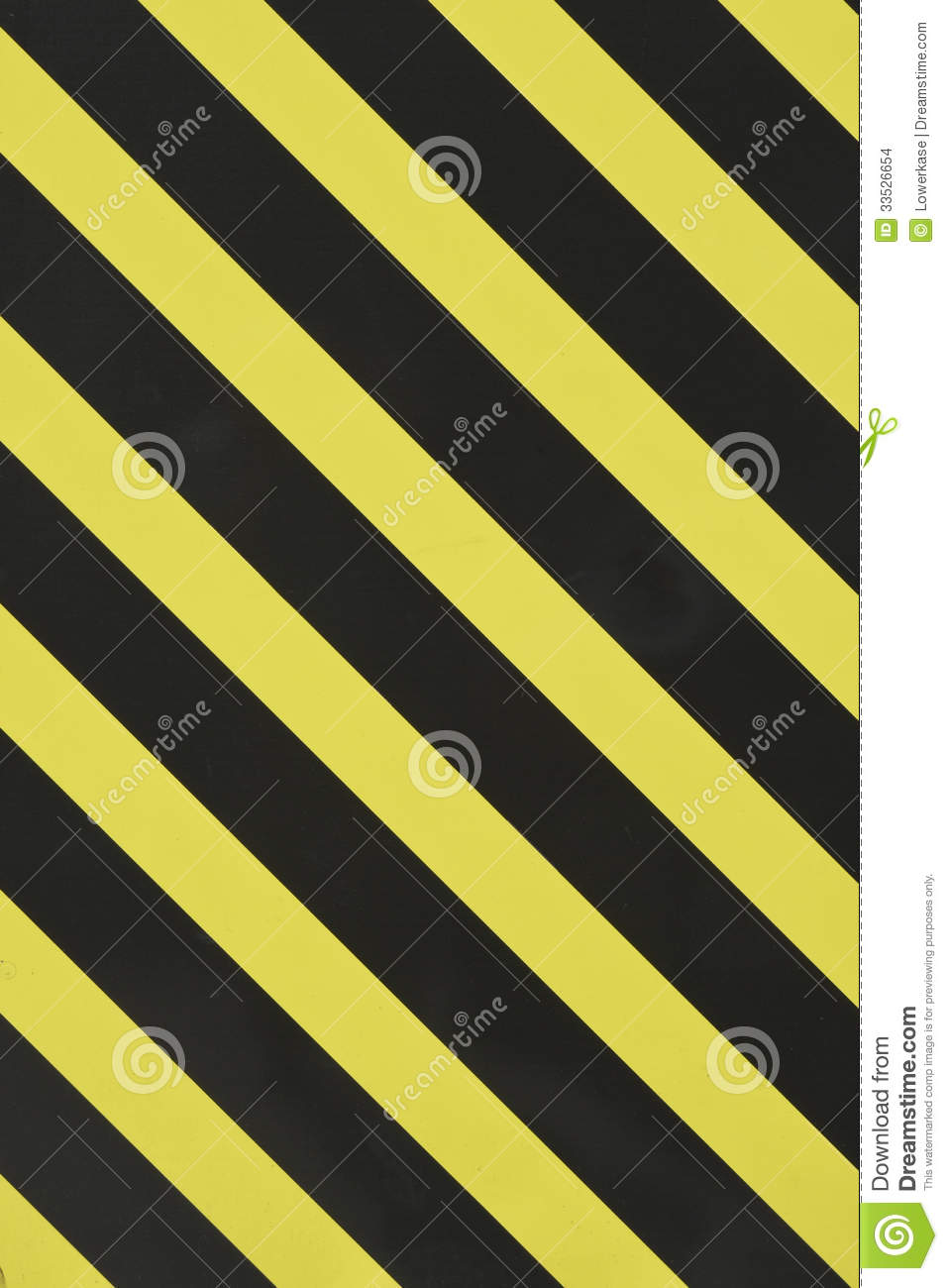 Yellow And Black Diagonal Stripes Stock Photo Image Of