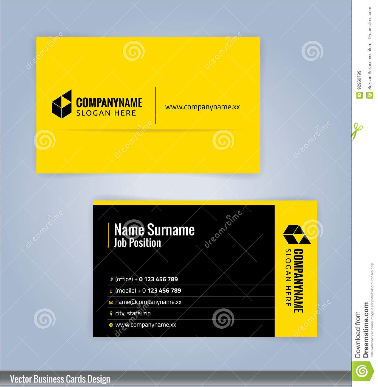 Yellow and black modern business card template stock vector yellow and black modern business card template royalty free vector alramifo Image collections