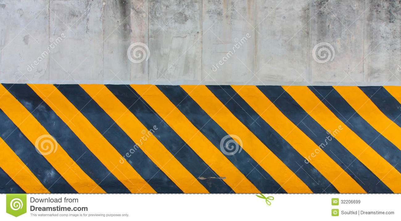 Yellow And Black Striped Line Stock Illustration