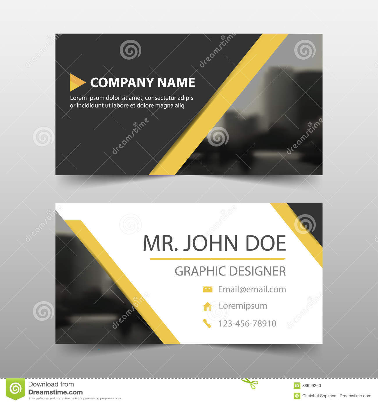 Yellow black triangle corporate business card name card template download yellow black triangle corporate business card name card template horizontal simple clean layout cheaphphosting