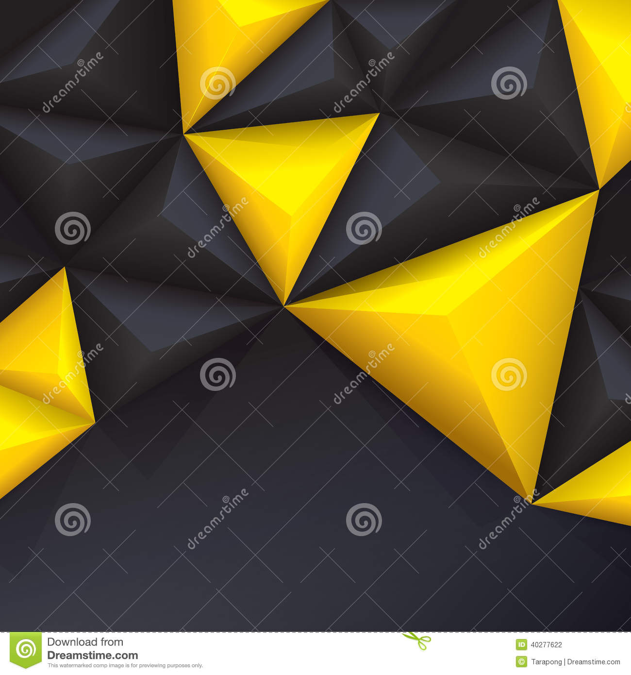 Book With Black And Yellow Cover : Yellow and black vector geometric background stock