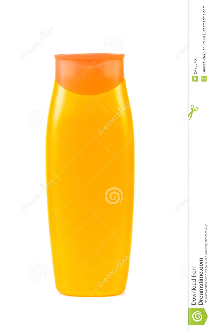 yellow blank shampoo bottle royalty free stock photography