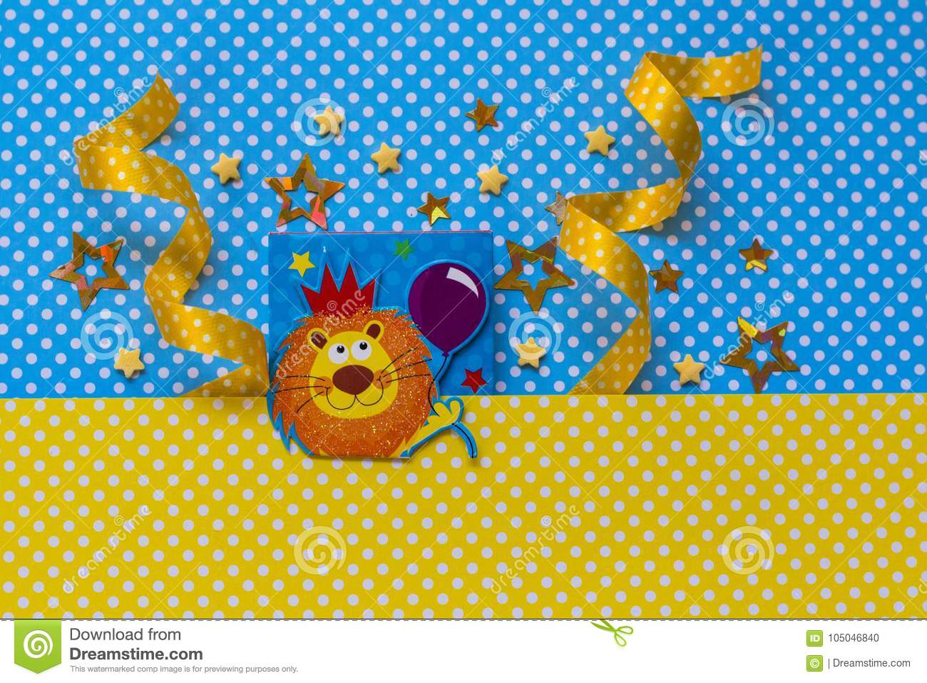 Baby Shower Background Yellow And Blue Stock Photo Image Of