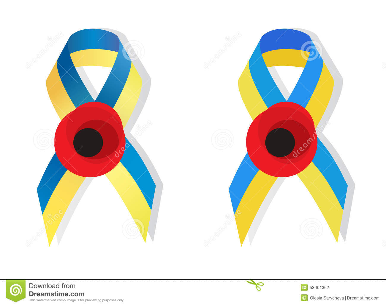 Yellow blue ribbon and poppy flower symbol of the memory of wor yellow blue ribbon and poppy flower symbol of the memory of wor buycottarizona