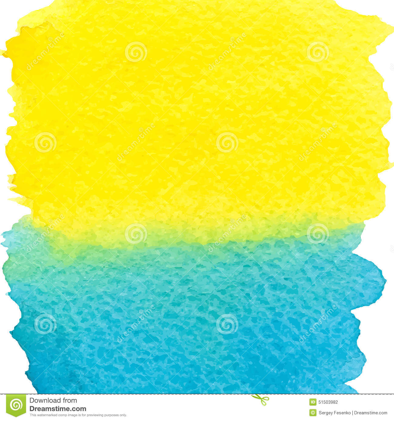 Abstract Paint Blue Yellow