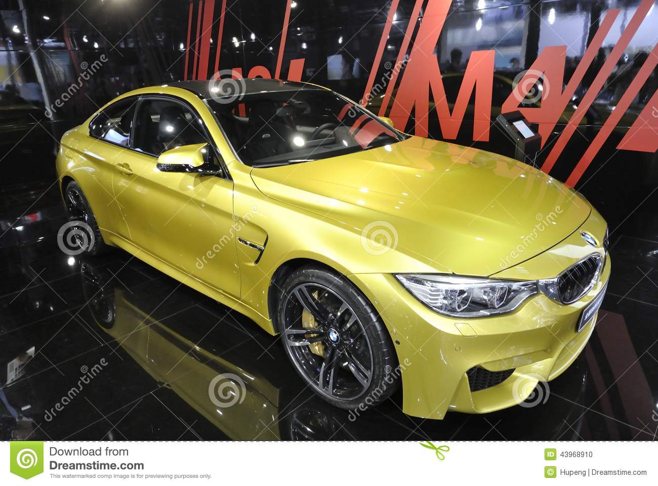Yellow Bmw M4 Sport Car Editorial Image Image Of Dream 43968910