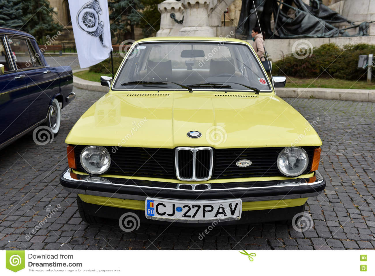 Yellow Bmw Vintage Car From Germany Editorial Photography Image Of Automobile Restored 78826902