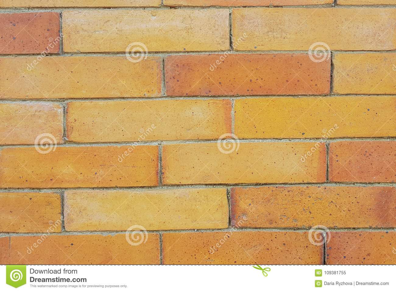 Yellow Brick Stone Exterior And Interior Decoration Stock Image ...