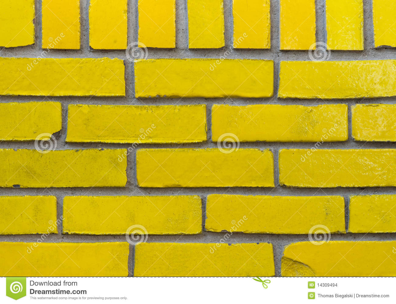 Yellow Brick Wall Stock Photo Image Of Texture Solid