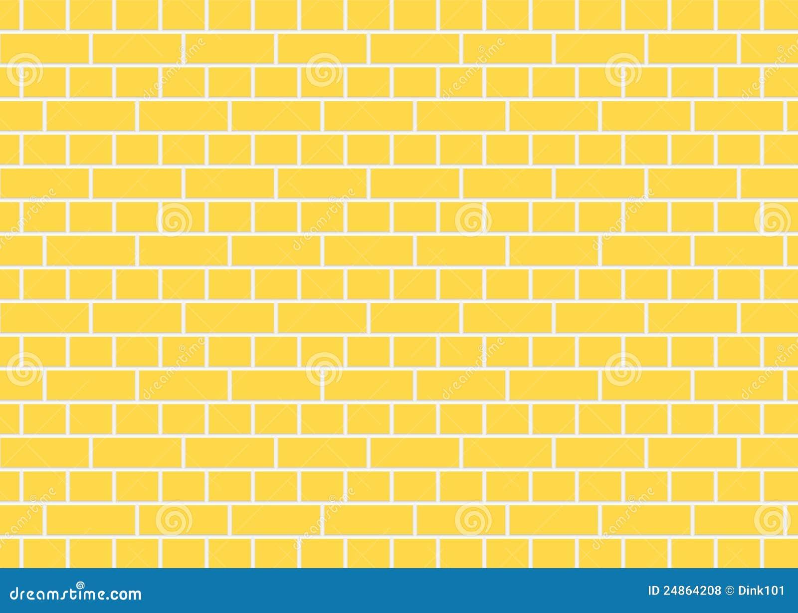 Yellow brick wall stock illustration. Illustration of texture - 24864208