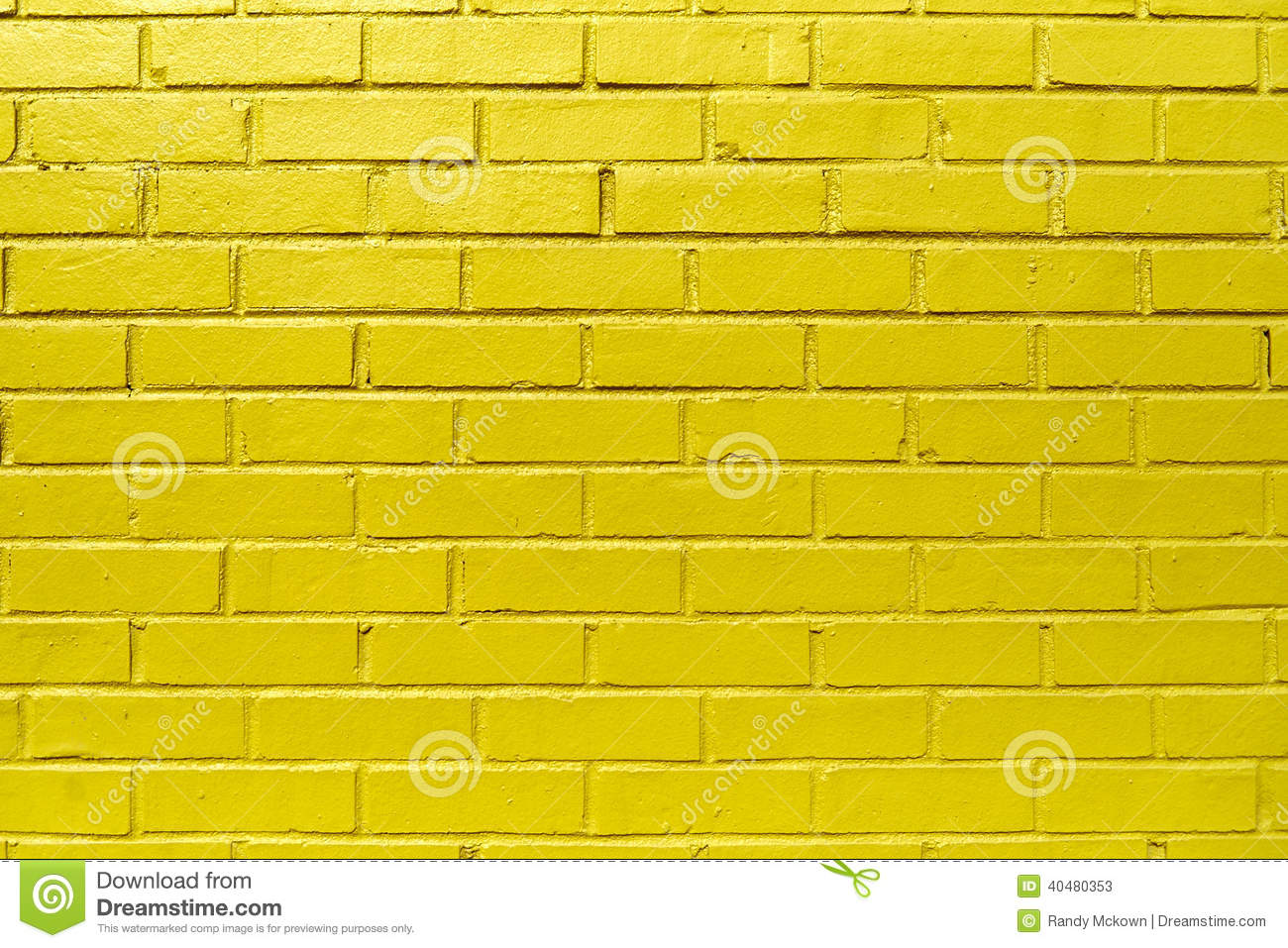 Yellow Brick Wall Stock Photo Image 40480353