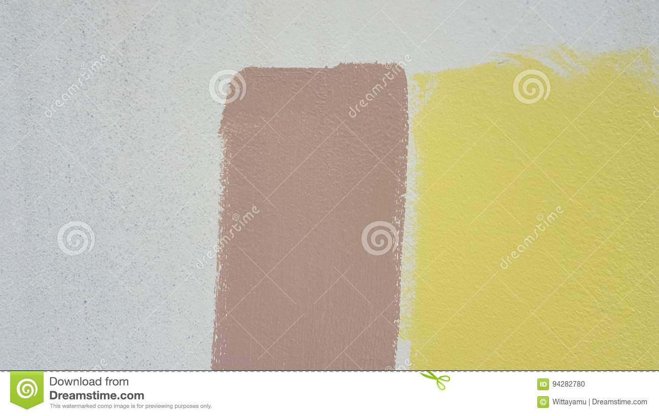 The Yellow And Brown Paint. Stock Photo - Image of brown ...