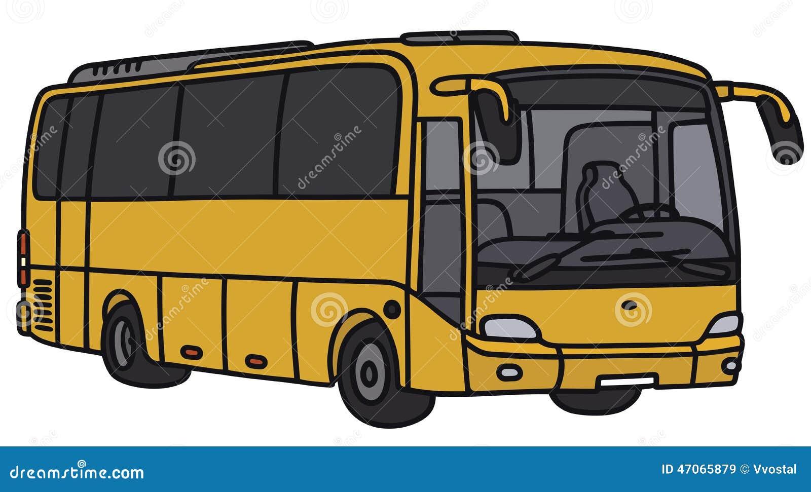 Yellow Bus Stock Vector Image 47065879