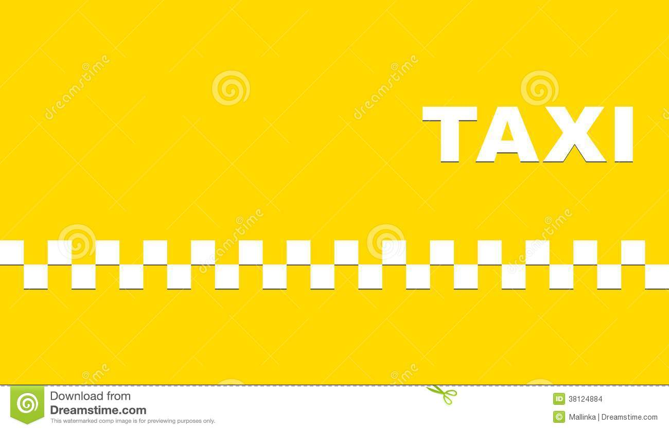 Yellow Business Card With Taxi Stock Images Image 38124884