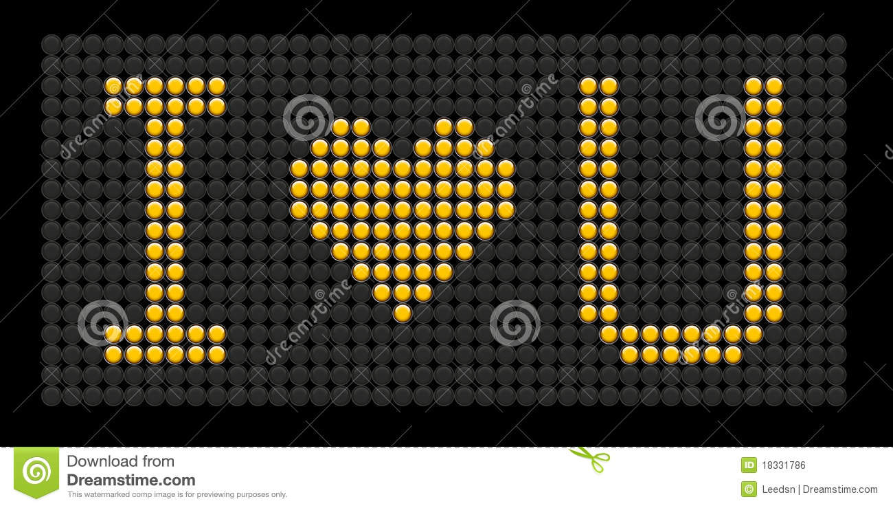 Yellow Button Board Words I Love You Stock Vector