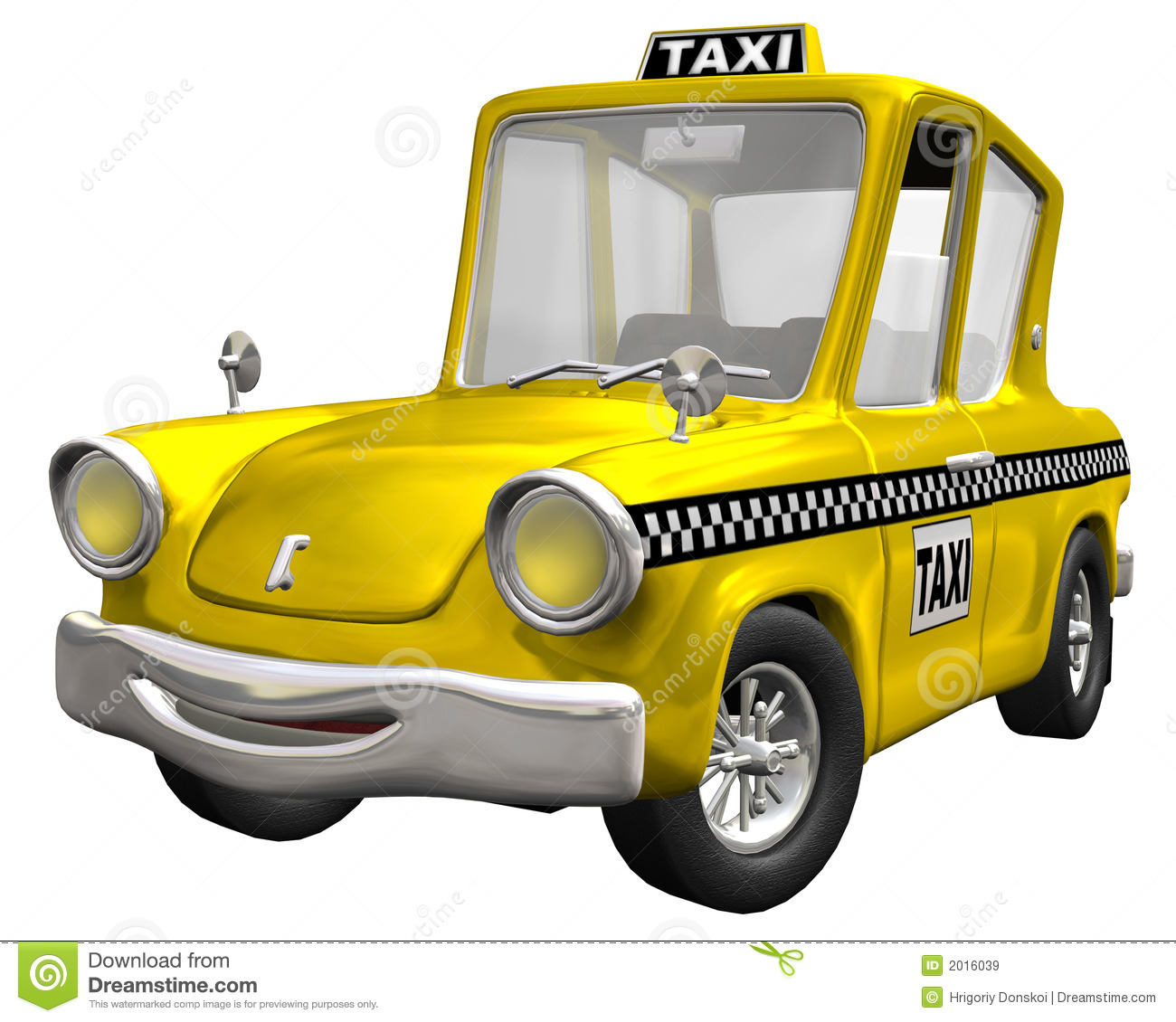Yellow cab stock illustration image of comic design for Schuhschrank yellow cab