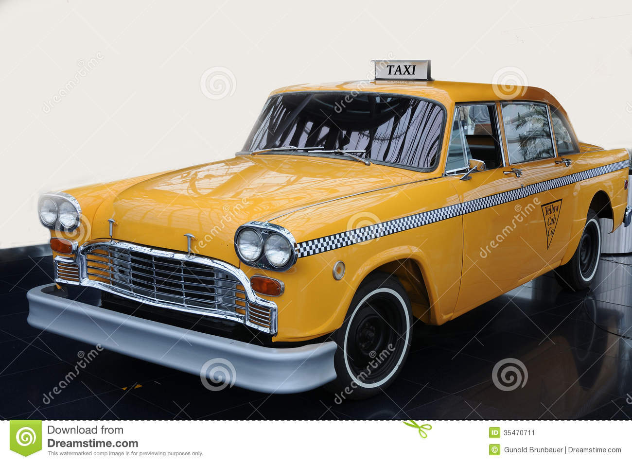Yellow Taxi Car Transport Taxis For Passengers Taxi