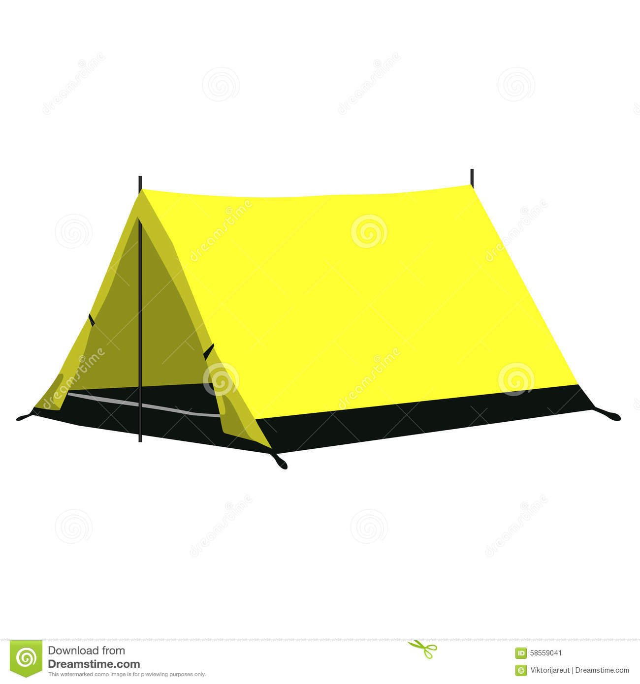 Dome Tent For Sale Yellow Camping Tent Stock Illustration Image 58559041
