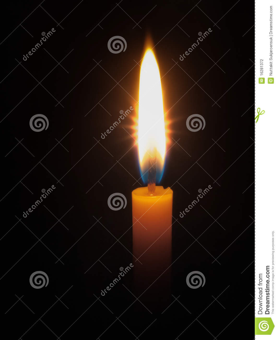 Yellow Candle Bright Light Stock Photography Image 16281372