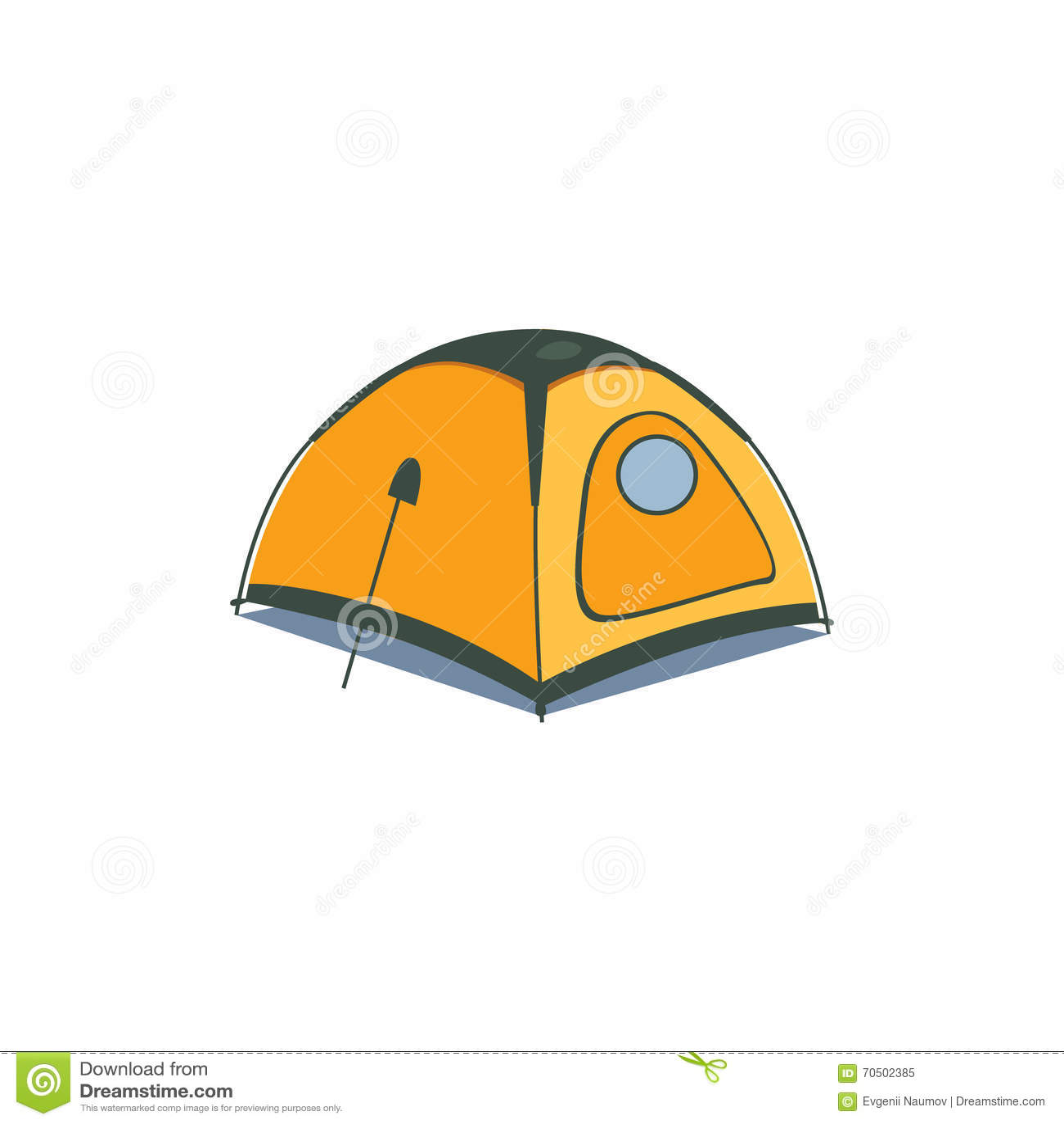 Yellow Canvas Tent Cartoon Vector