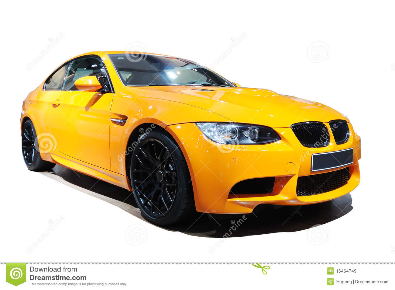Yellow Car Bmw M3 Tiger Edition Stock Image Image 16464749