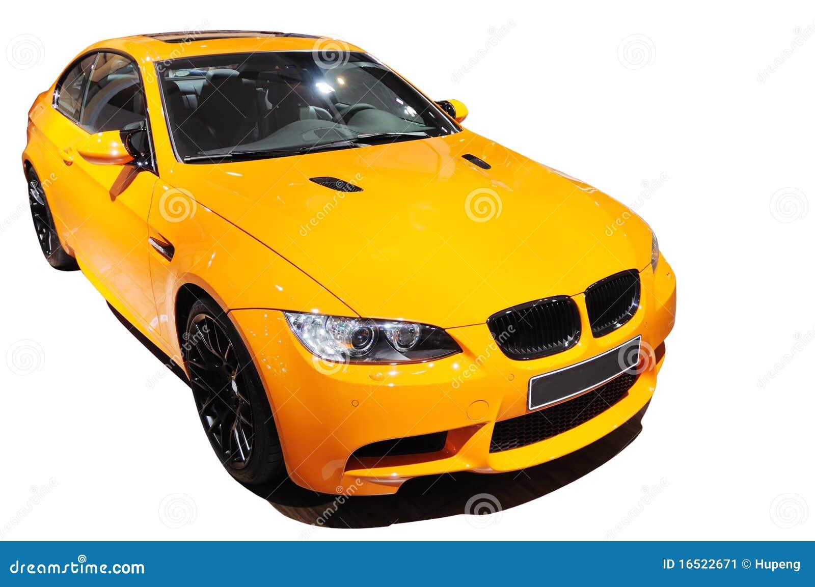 Yellow Car Bmw M3 Tiger Edition Stock Image Image 16522671