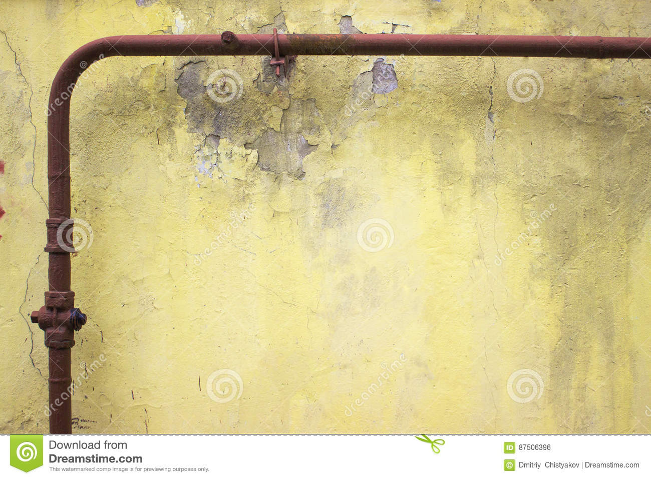 Yellow Cement Texture, Urban Concrete Wall Background For Design ...