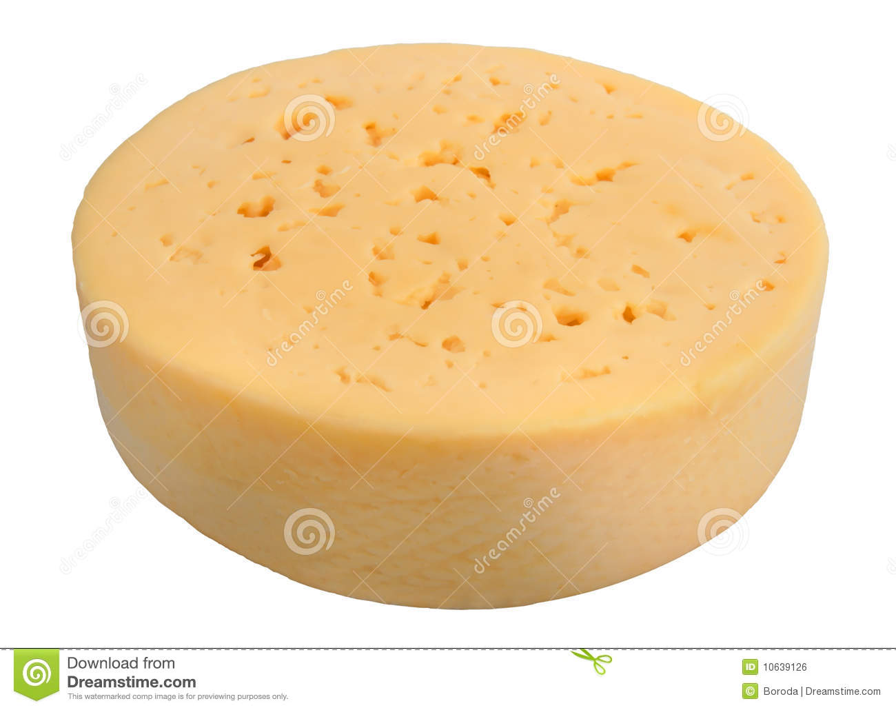 Yellow Cheese Of Circle Form Royalty Free Stock Image