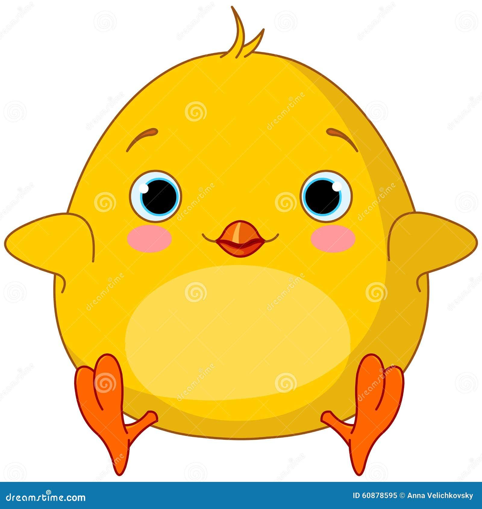 Yellow Chick stock vector. Illustration of chicken, illustration - 60878595