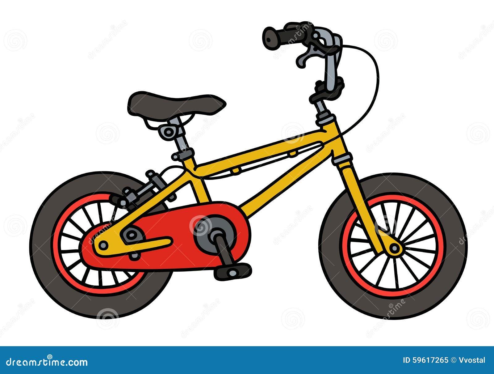 Yellow Child Bike Stock Vector - Image: 59617265