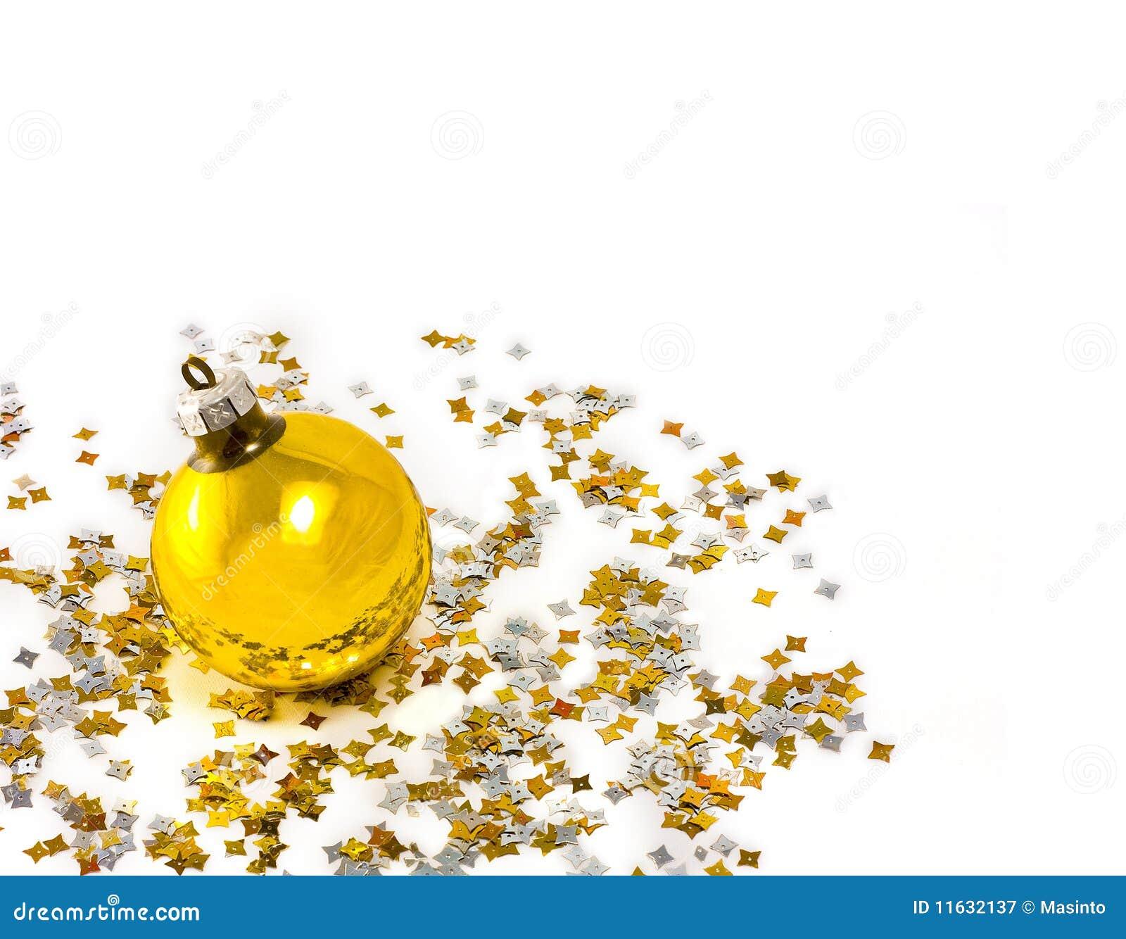 Yellow christmas tree decorations decorating