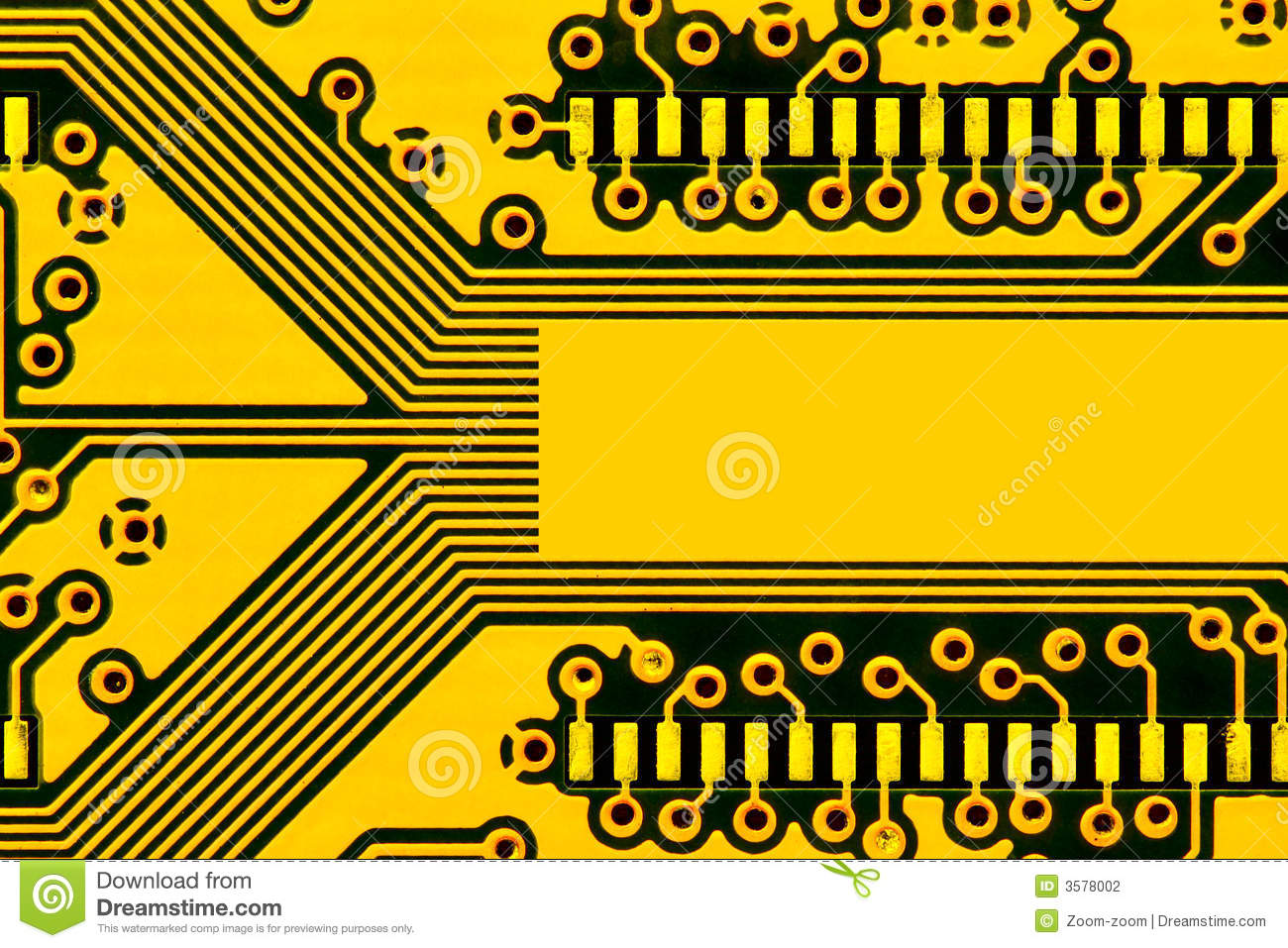 Yellow Circuit Board Stock Photo Image Of Electrical 3578002 Make Your Own Images