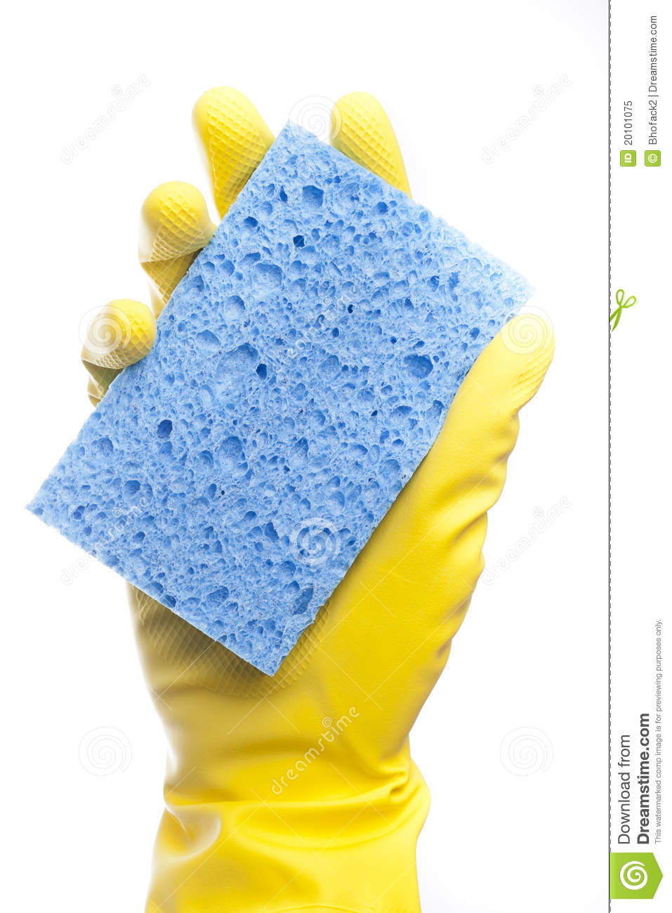 A Yellow Cleaning Glov...