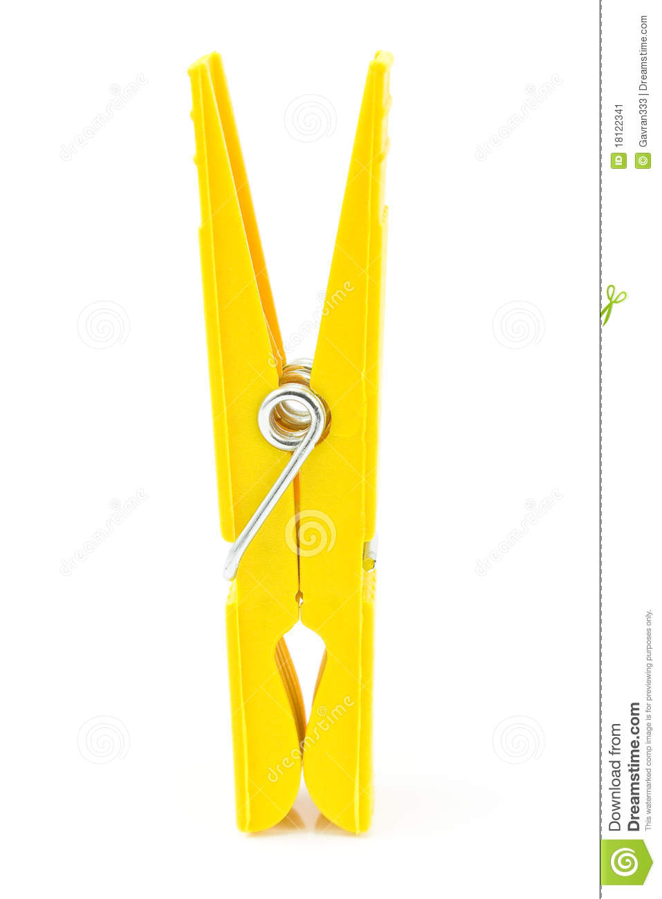 Yellow Clothespin Stock Image - Image: 18122341