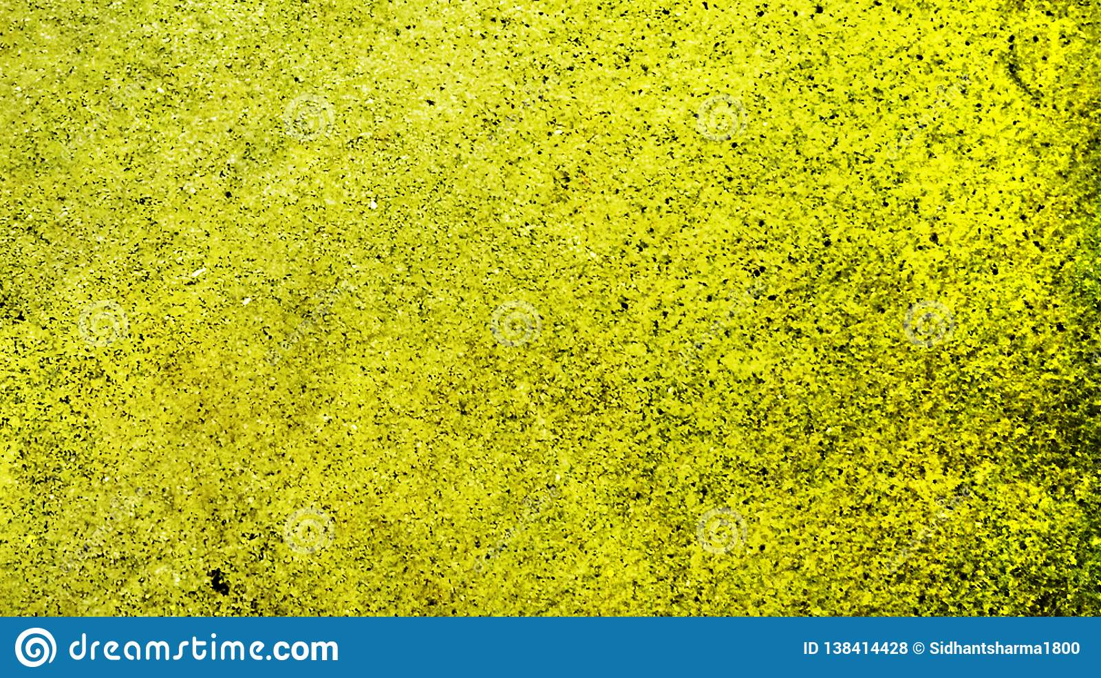 Yellow Color With Glitter Effects Textured Background