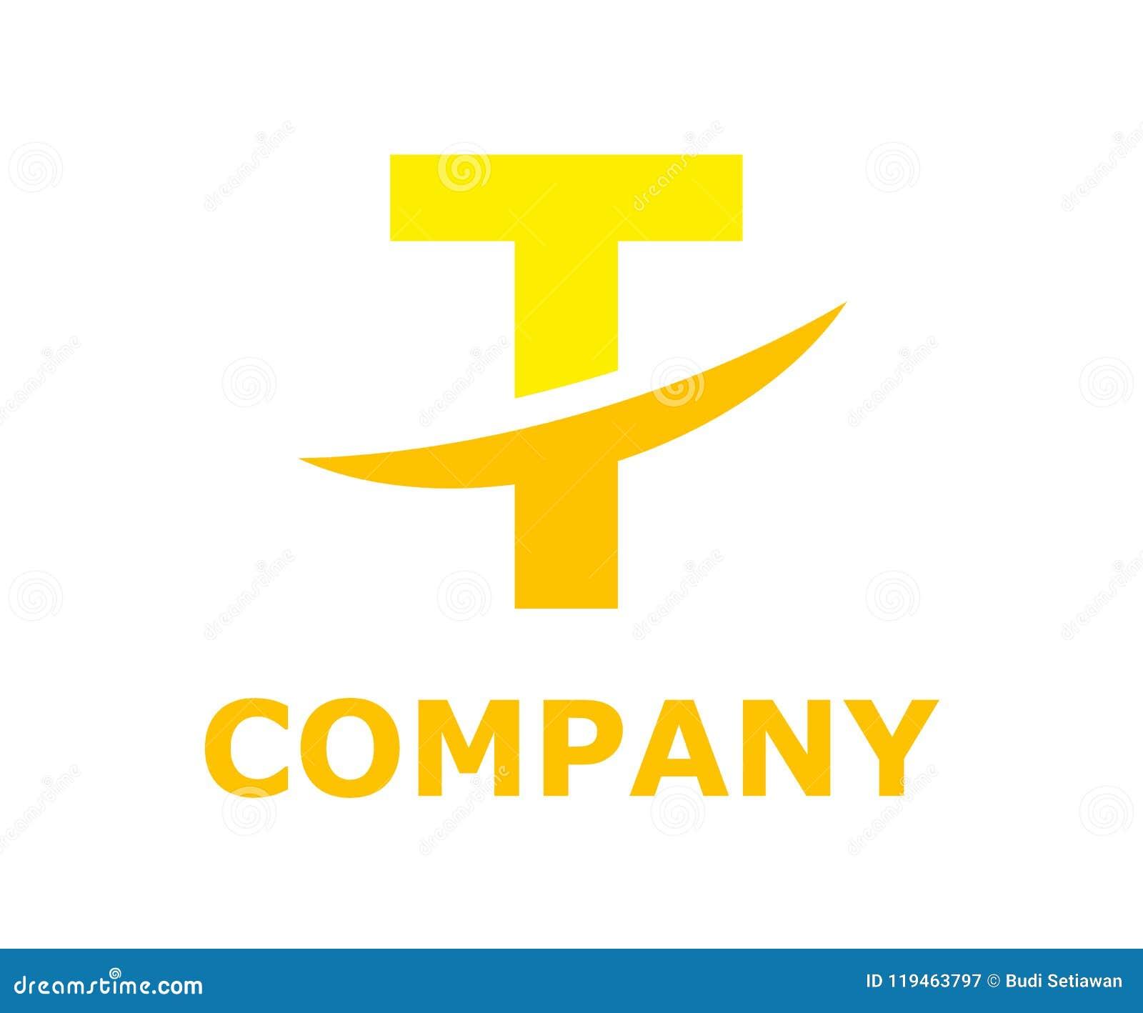 Slice Alphabet Logo T Stock Vector Illustration Of Creative 119463797