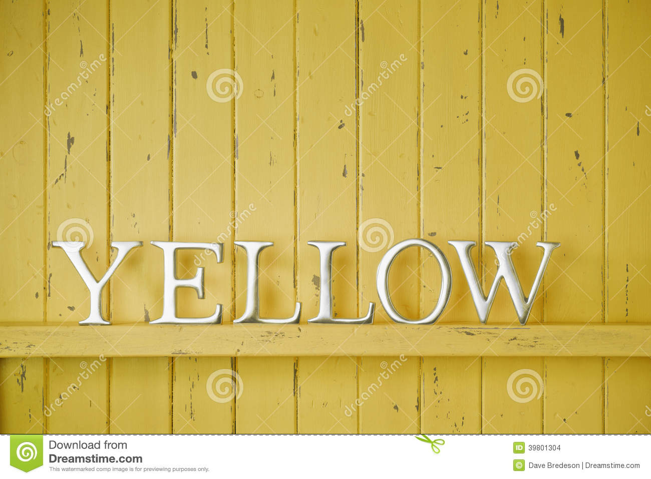 Yellow Color Word Background Stock Photo Image Of Motif