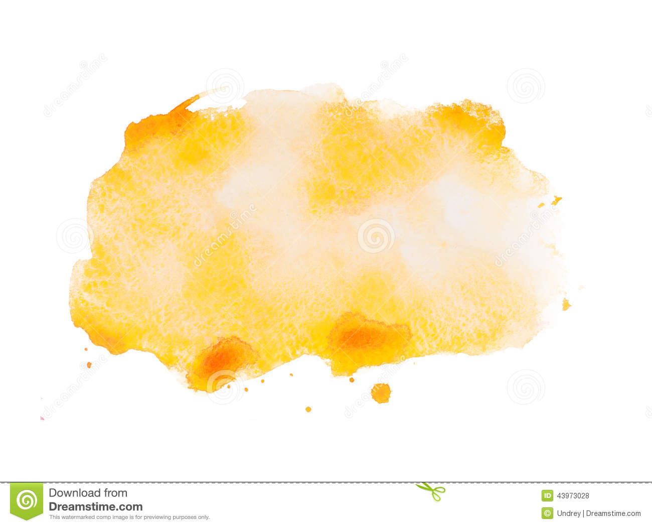 Yellow colorful abstract hand draw watercolour stock photo for White paint going yellow