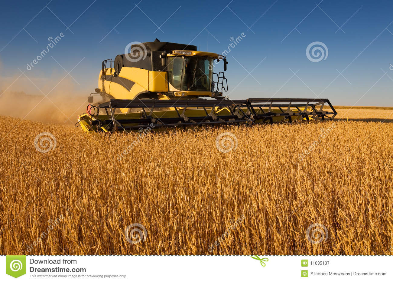 Yellow Combine Harvester Royalty Free Stock Photography ...