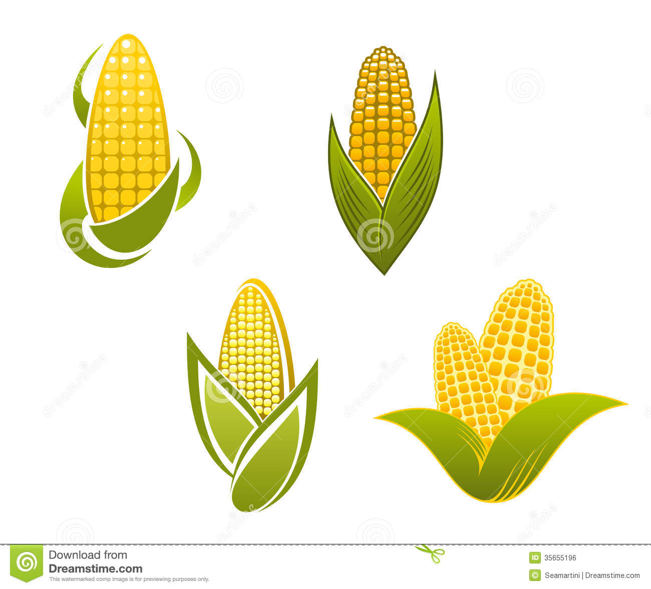Yellow Corn Icons And Symbols Royalty Free Stock Image - Image ...
