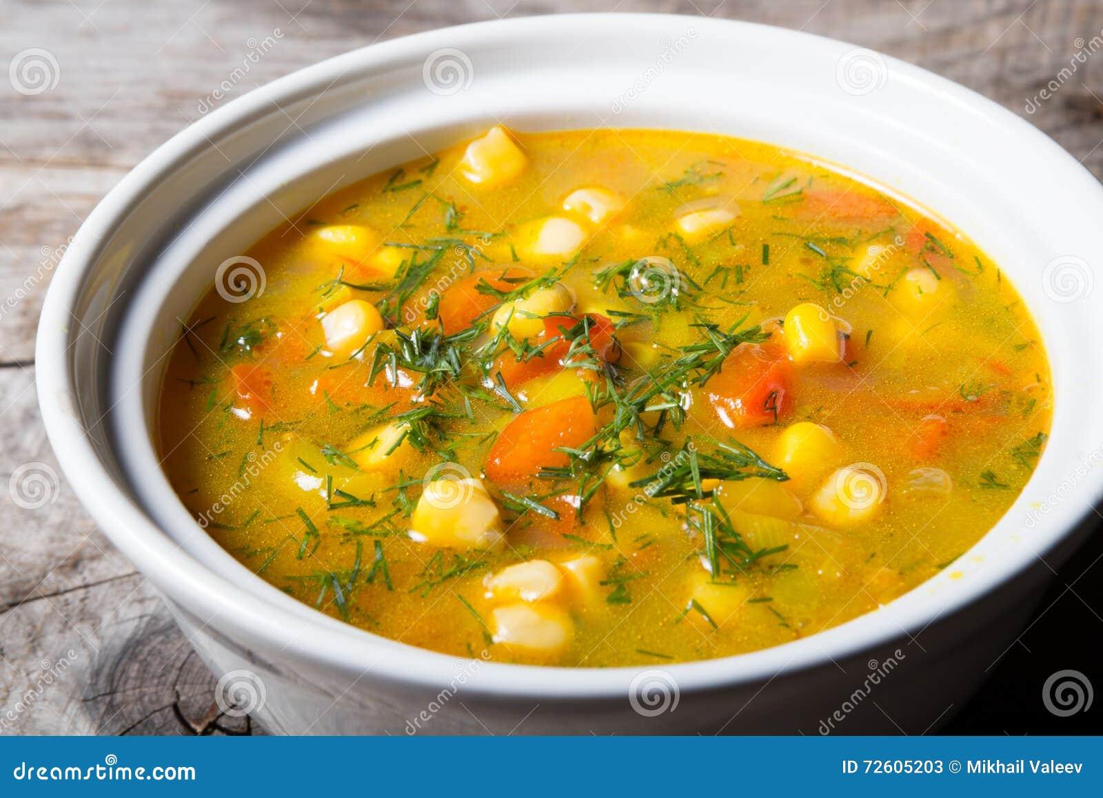 Yellow corn soup