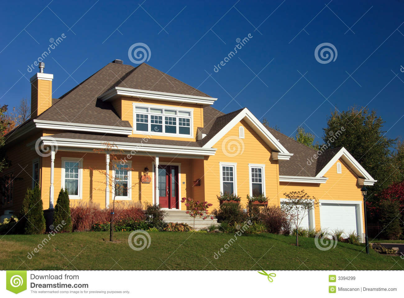 Yellow country house stock image image of designer for Country house online