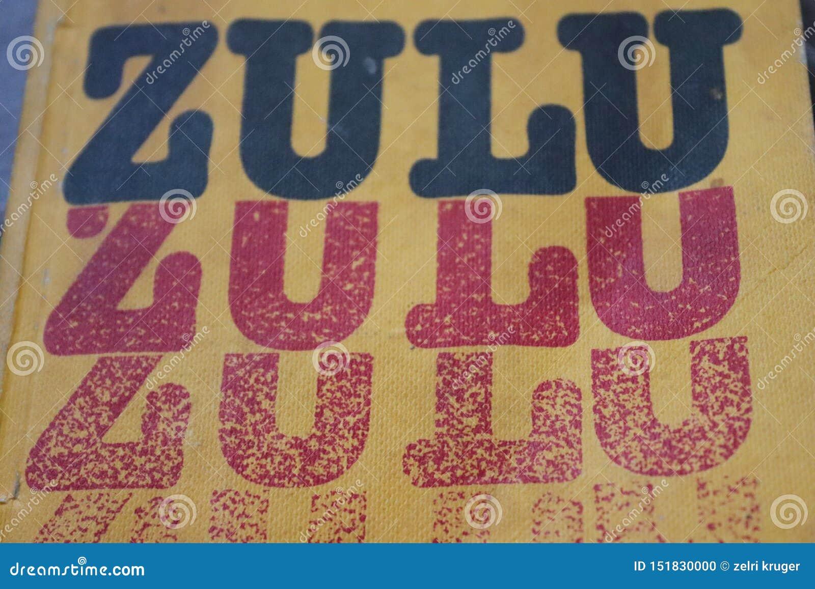 Yellow cover of Zulu language book
