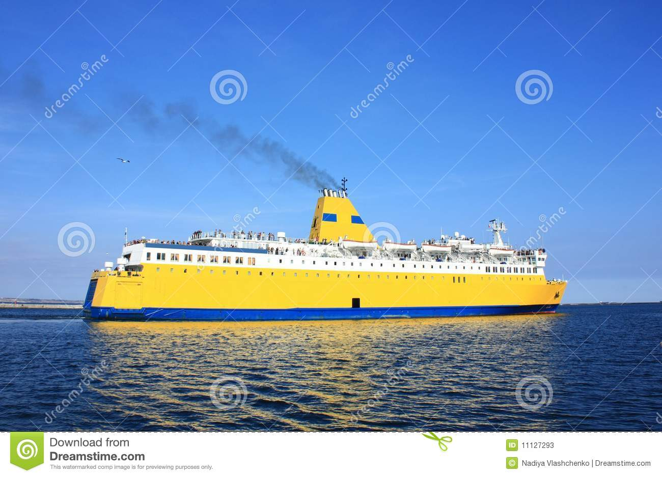 yellow cruise ship stock image  image of sailing  ship