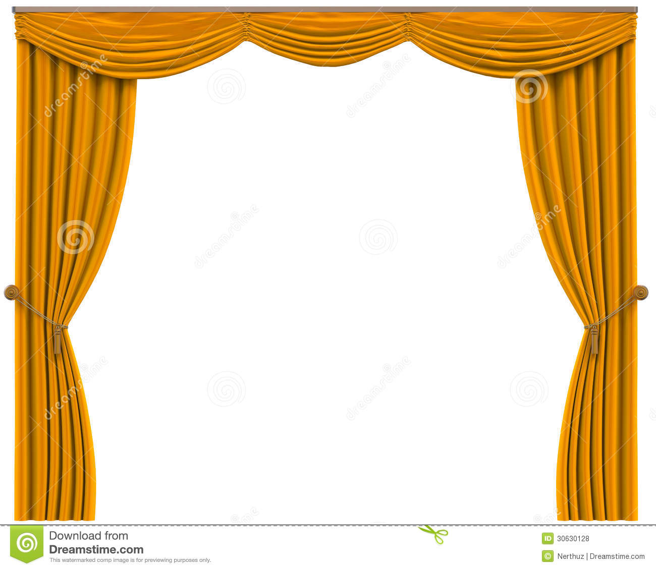Royalty free or white curtain background drapes royalty free stock - Royalty Free Stock Photo Curtains Isolated Render White