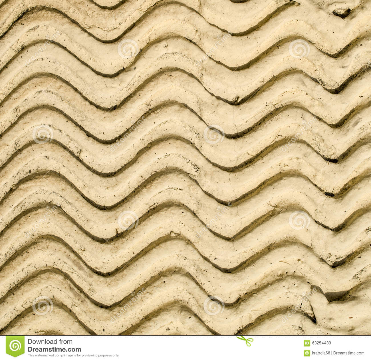 Yellow Decorative Relief Plaster On Wall Stock Image - Image of ...
