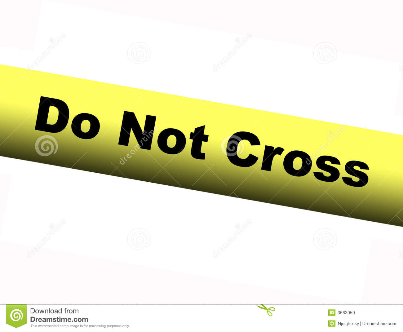 yellow do not cross barrier tape stock photo