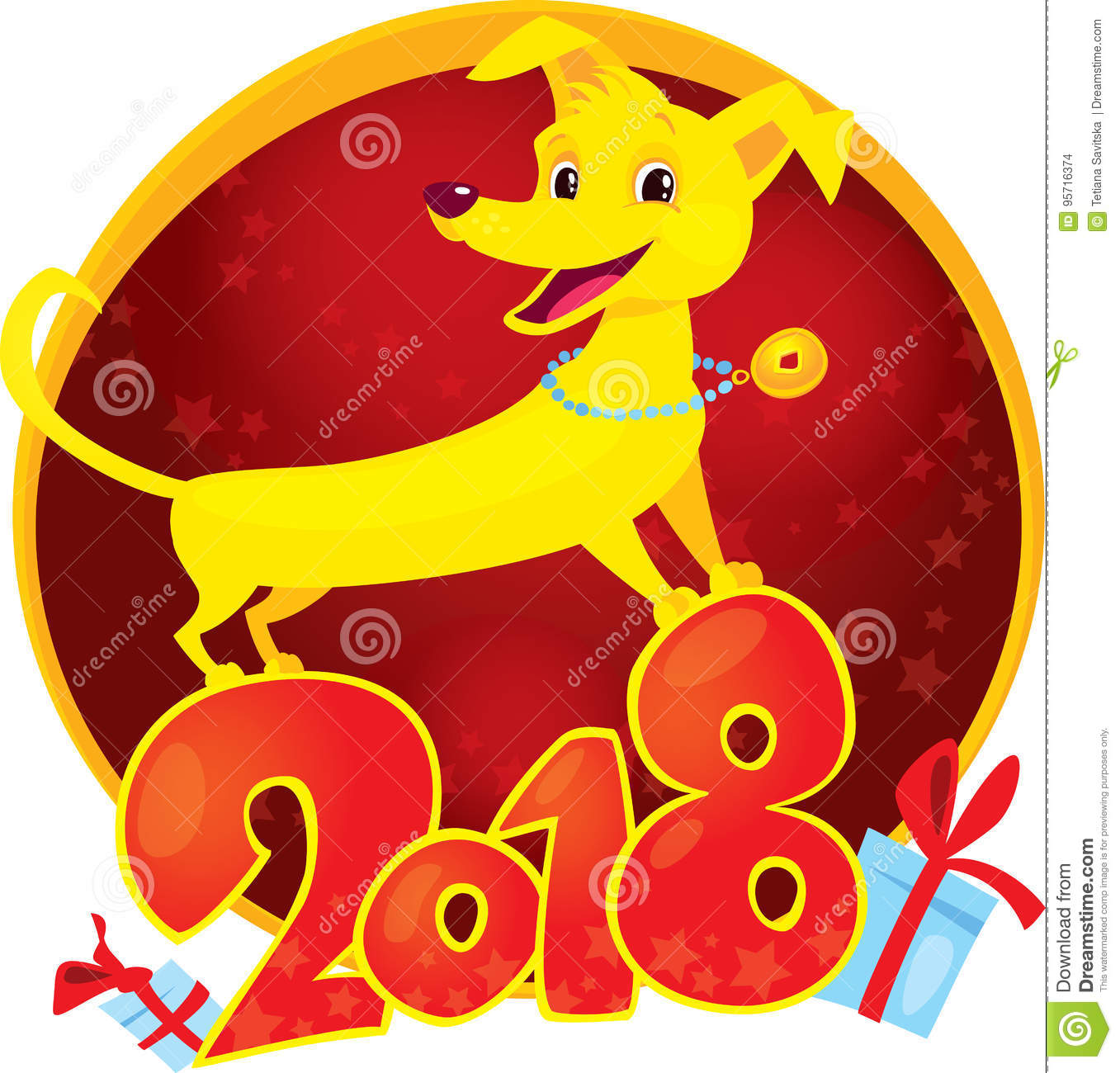 Yellow dog is the chinese zodiac symbol of the new year 2018 yellow dog is the chinese zodiac symbol of the new year 2018 biocorpaavc