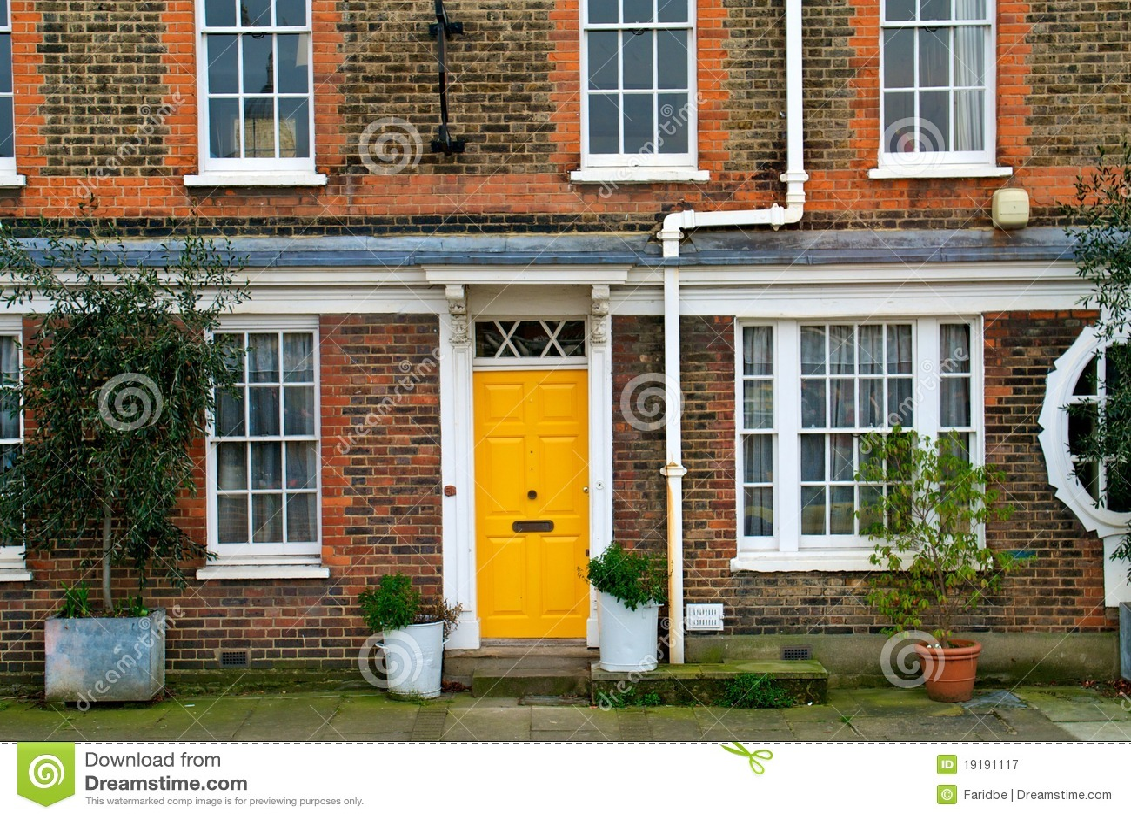 the yellow door stock image  image of home  dublin